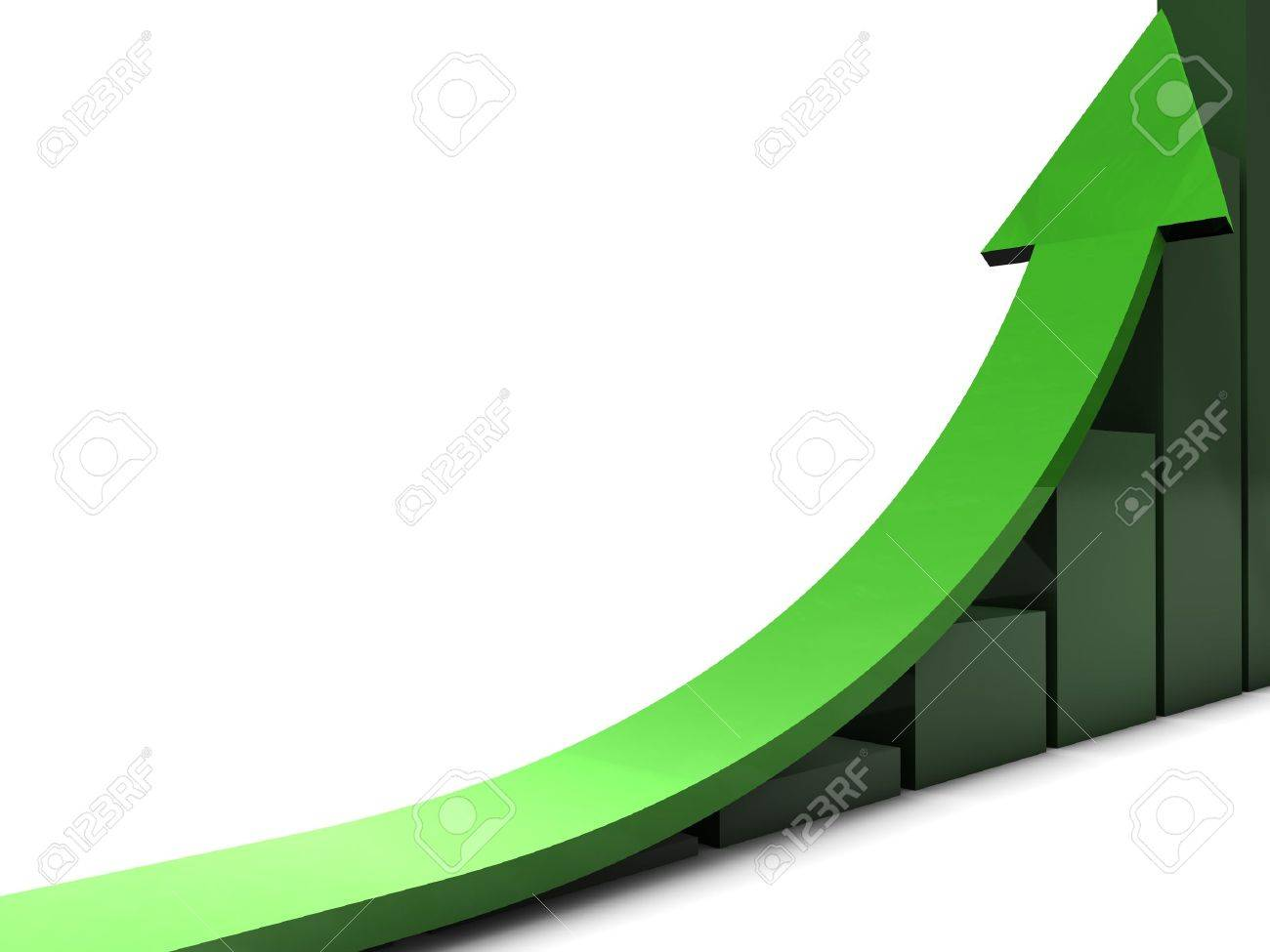 Green business trend Stock Photo - 12389377