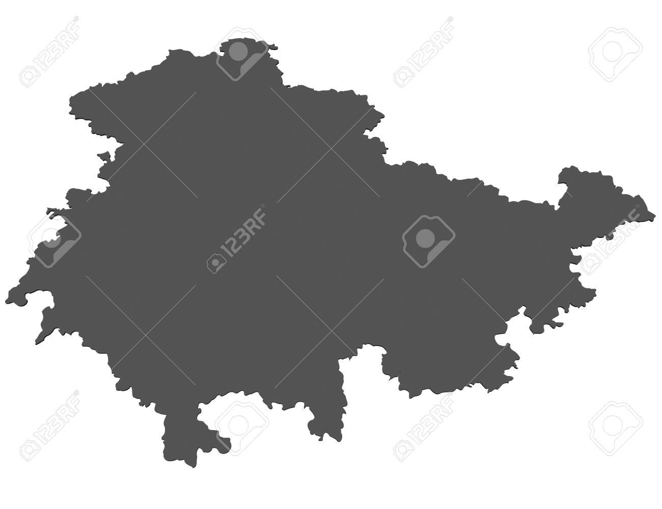 Carte Allemagne Thuringe.Carte Isolee De L Etat De Thuringe Allemagne Banque D Images Et