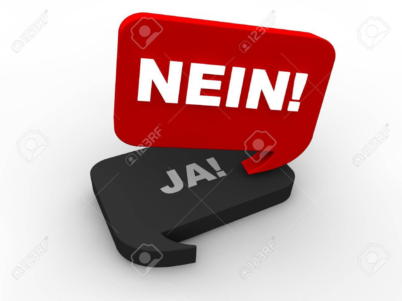Poll Result - nein Stock Photo - 18542485