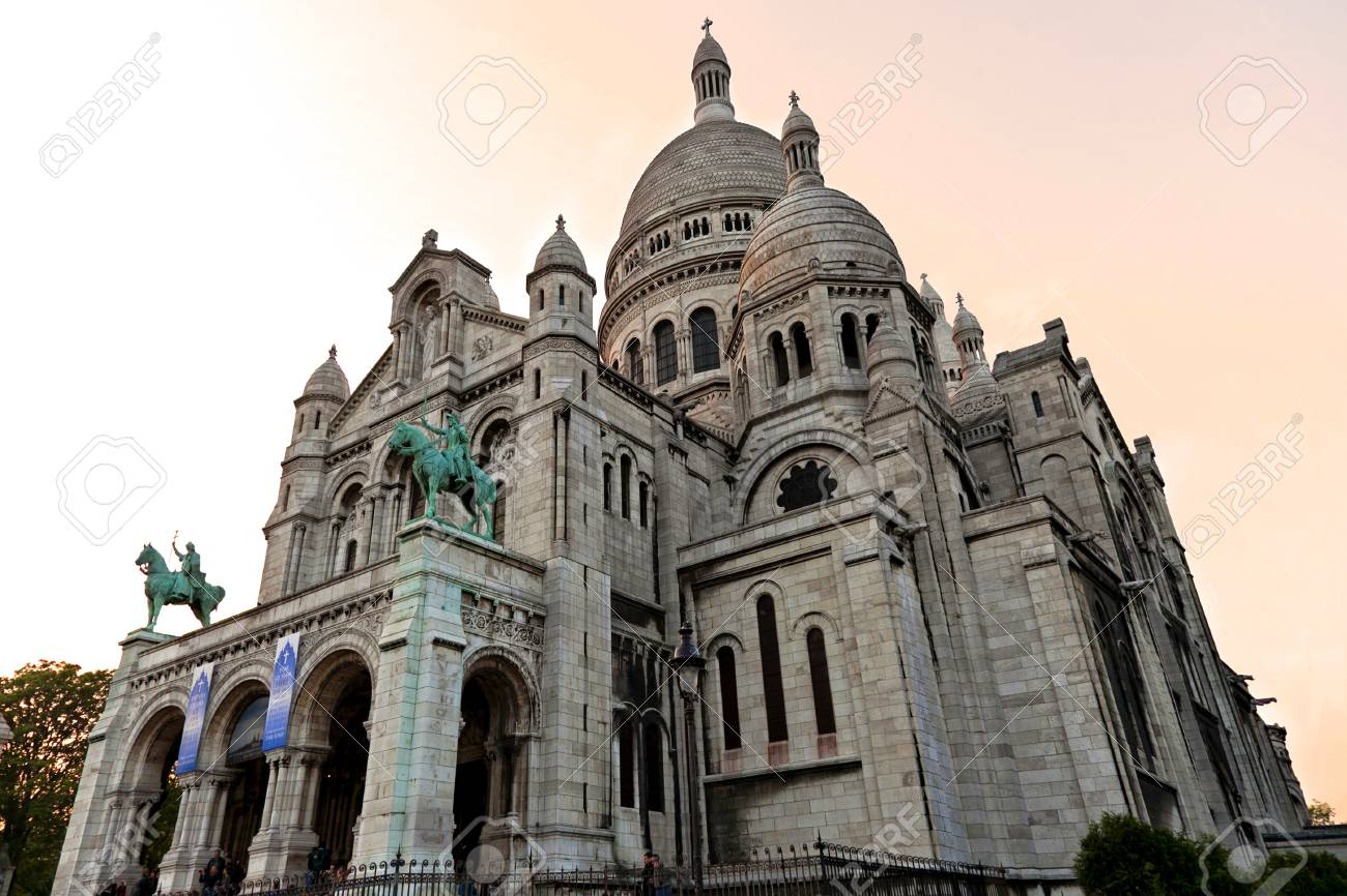 Basilique Of The Sacr -Coeur In Paris Stock