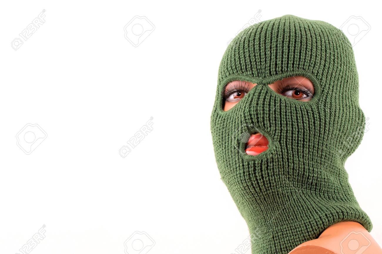 Máscara Pasamontañas Verde En La Cabeza Del Maniquí Fotos, Retratos ...