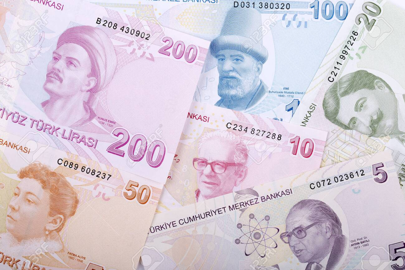 Turkish money - reverse side, a business background - 119613084