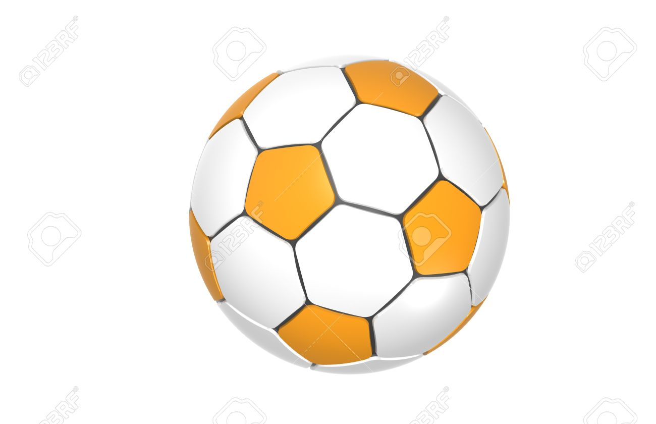 orange football soccer ball stock photo picture and royalty free