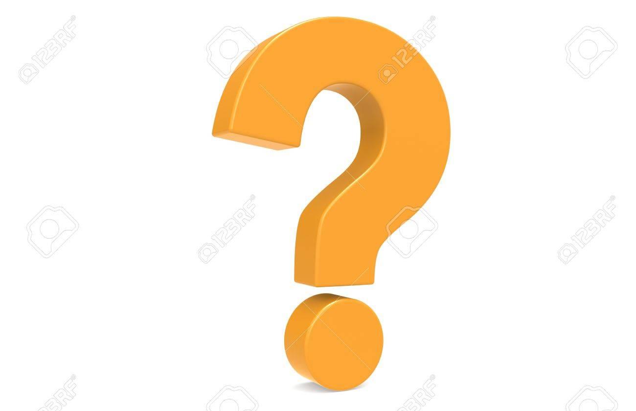 Orange Question Mark, standing vertically . Stock Photo - 9537189