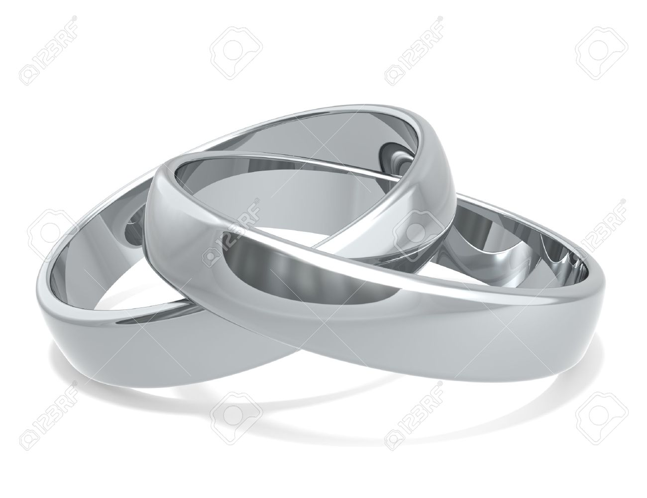 Wedding Rings Of Platinum X 2 Stock Photo Picture And Royalty Free