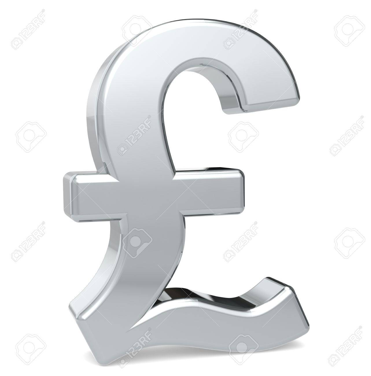 British Pound Symbol Metal Color Standing Stock Photo Picture And