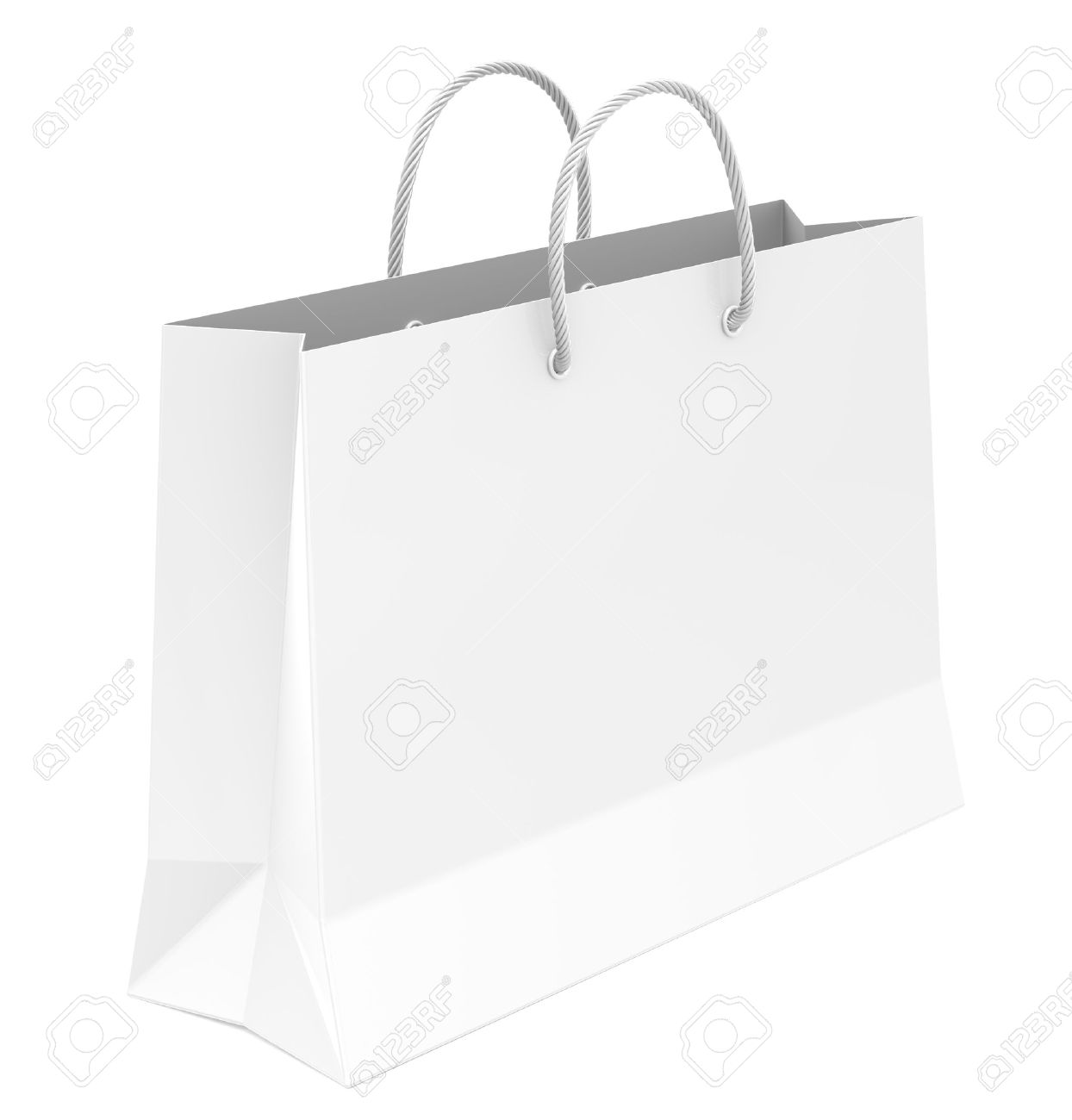 White Shopping Bag Stock Photo, Picture And Royalty Free Image ...