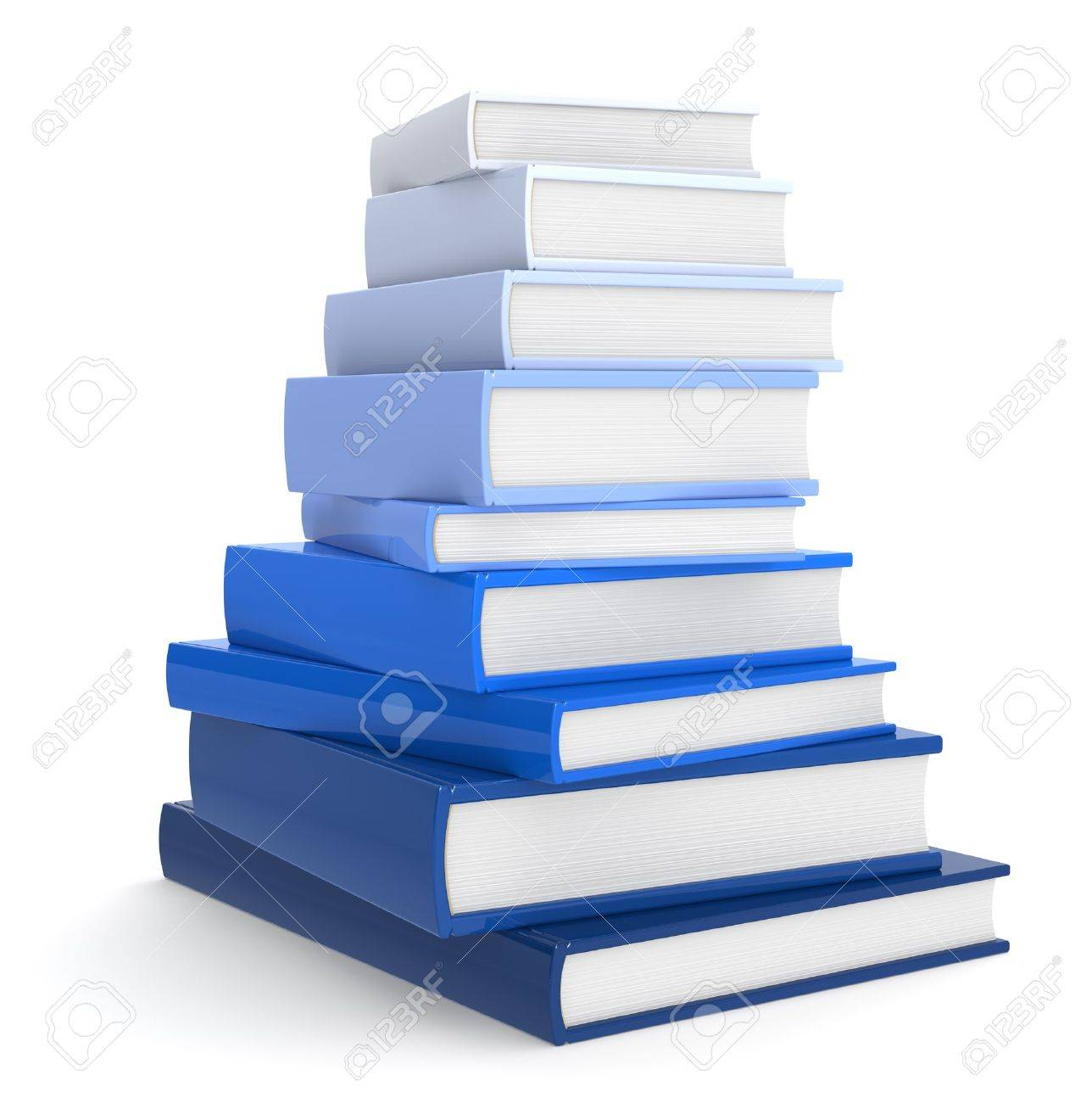 Pile Of Books. Blue Color Scale. Stock Photo, Picture And Royalty ...