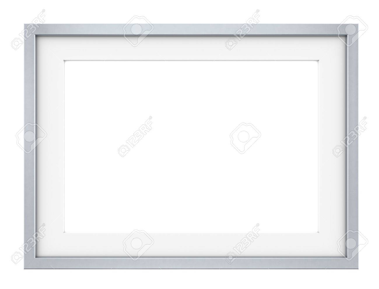 Picture frame of Steel Slightly rounded edges Sparse design