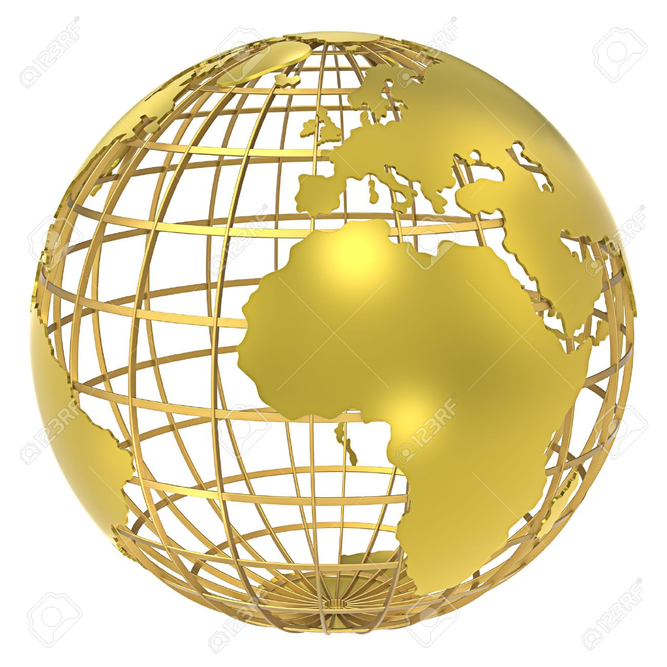The Earth, Frame Structure Of Gold Shadow Stock Photo, Picture And ...
