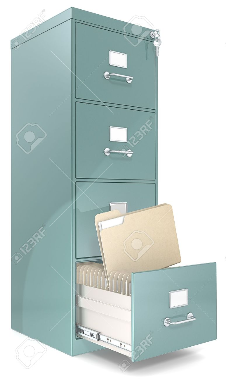 File Cabinet Classic File Cabinet With Lock One Open Drawer ...