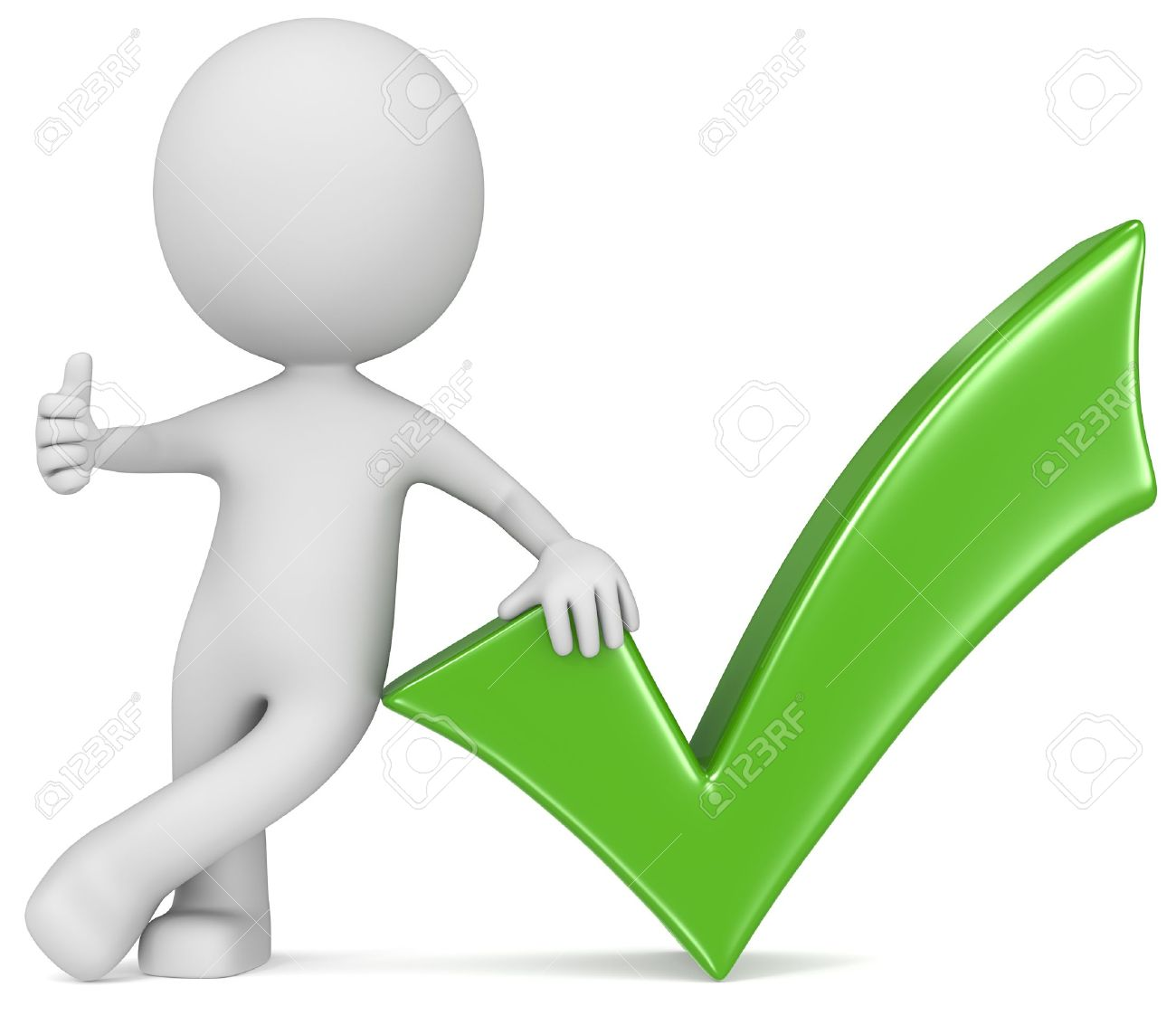 Ok The Dude Giving Thumb Up Next To A Green Check Mark Stock Photo