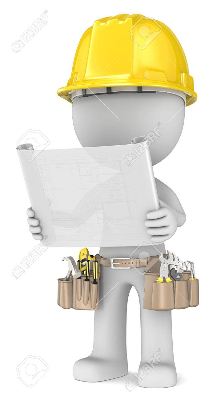 Blueprint dude the builder holding a blueprint semi transparent blueprint dude the builder holding a blueprint semi transparent stock photo 23123177 malvernweather Image collections