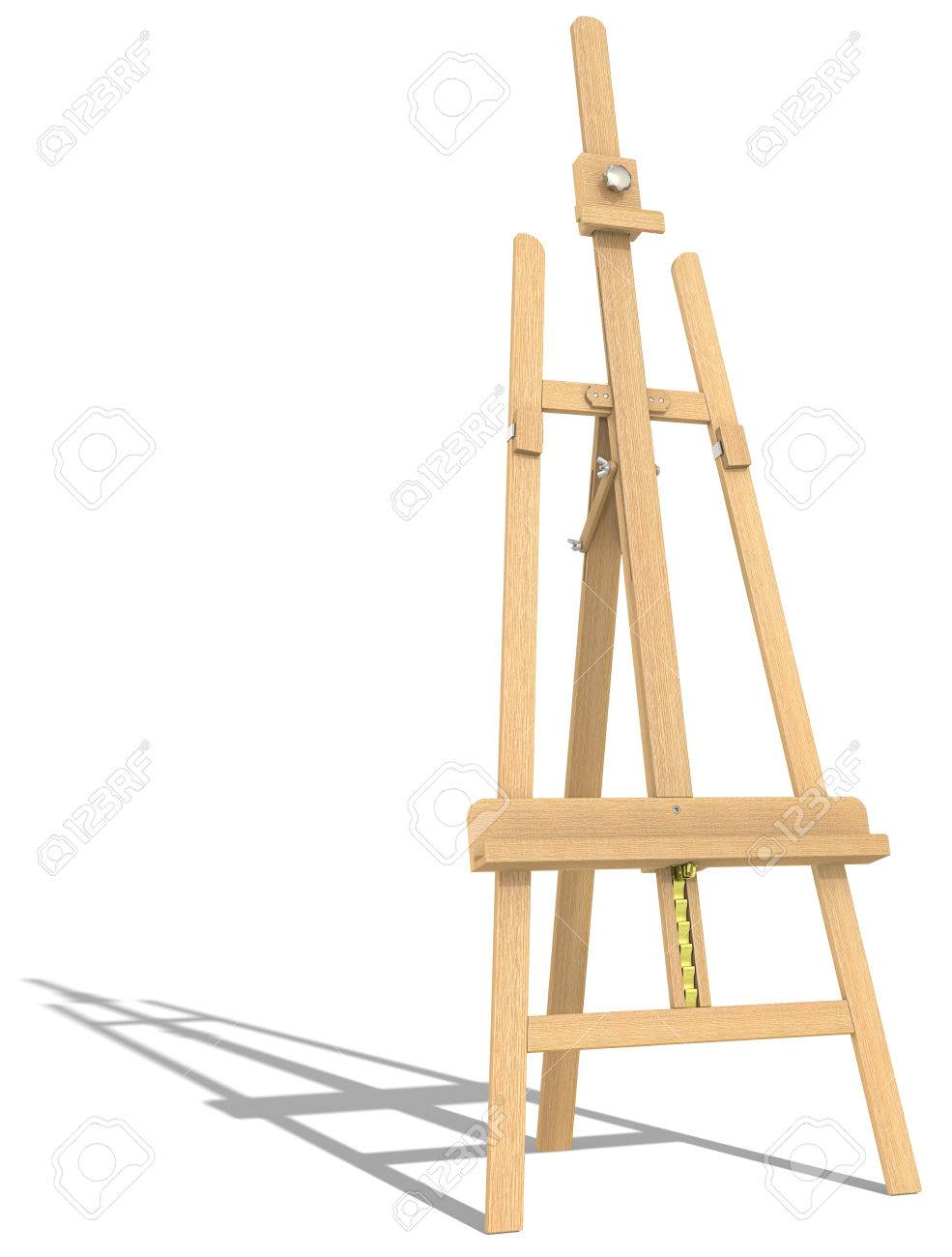 Side View Of An Easel Hard Shadow Stock Photo Picture And Royalty