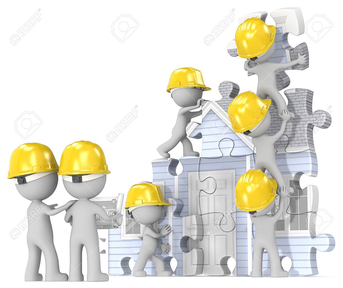 House construction site dude the builders x 7 building abstract house construction site dude the builders x 7 building abstract puzzle house from blueprint malvernweather Gallery