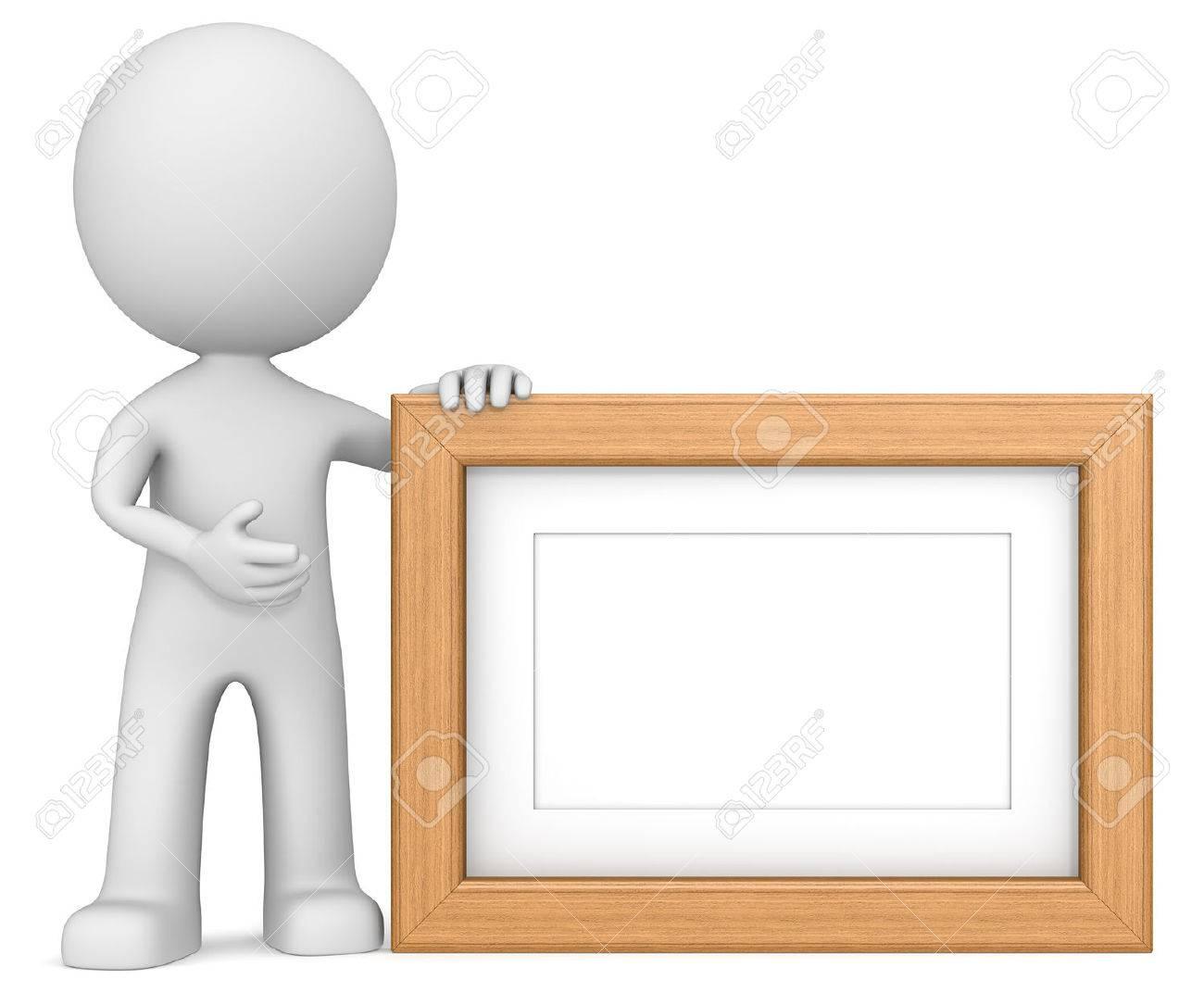 Marco De Madera. El Tipo 3D Picture Frame Holdning Carácter. Teca ...