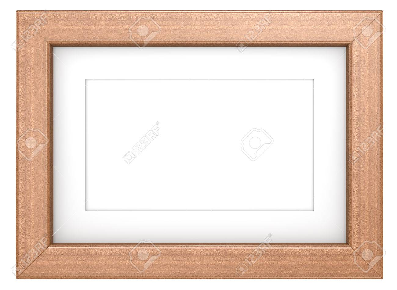 Mahogany Picture Frame. Wooden Frame With Passepartout. Mahogany ...