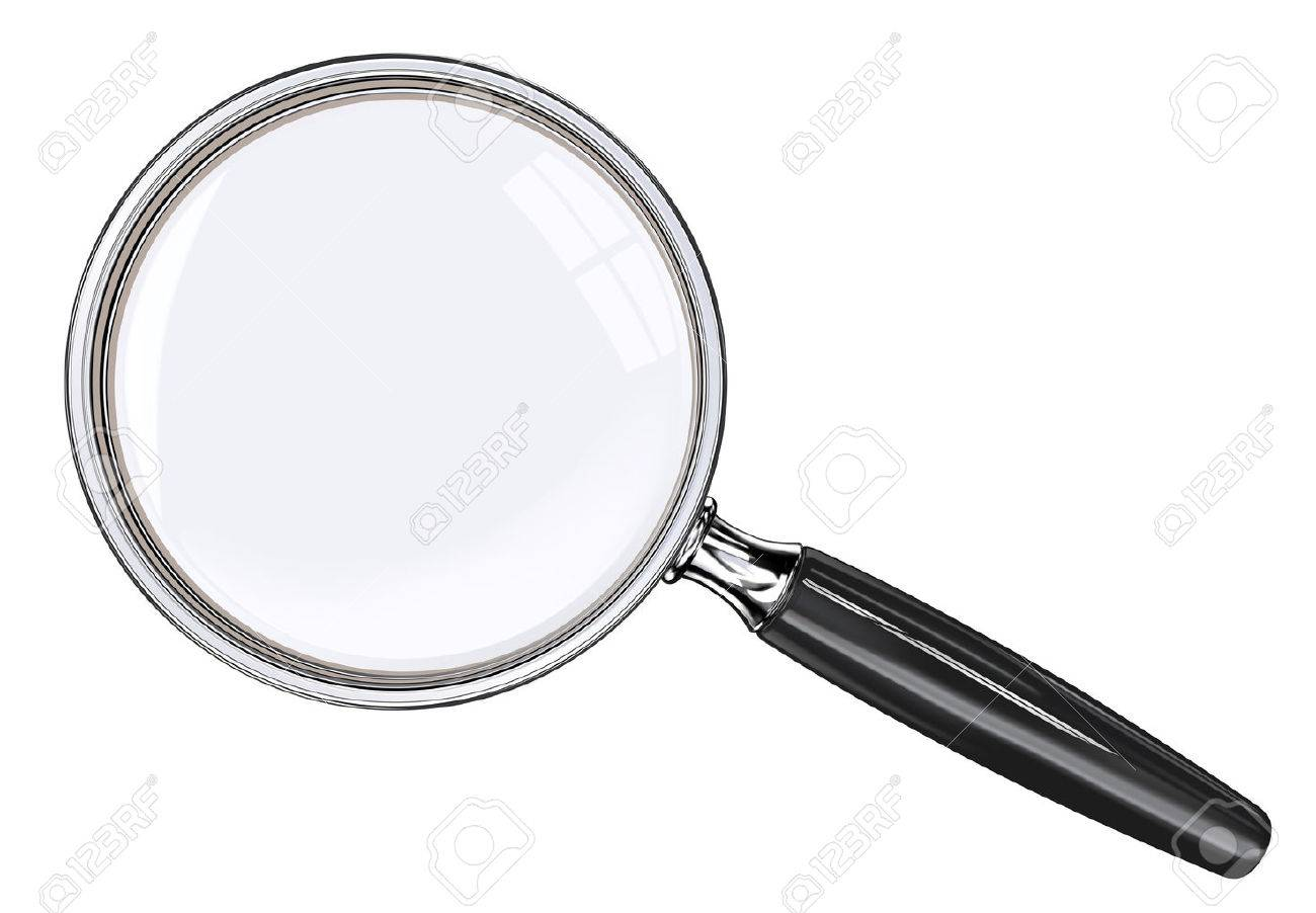Magnifying glass. EPS 10. Photo realistic Vector magnifying glass. Black and metal. Standard-Bild - 43543634