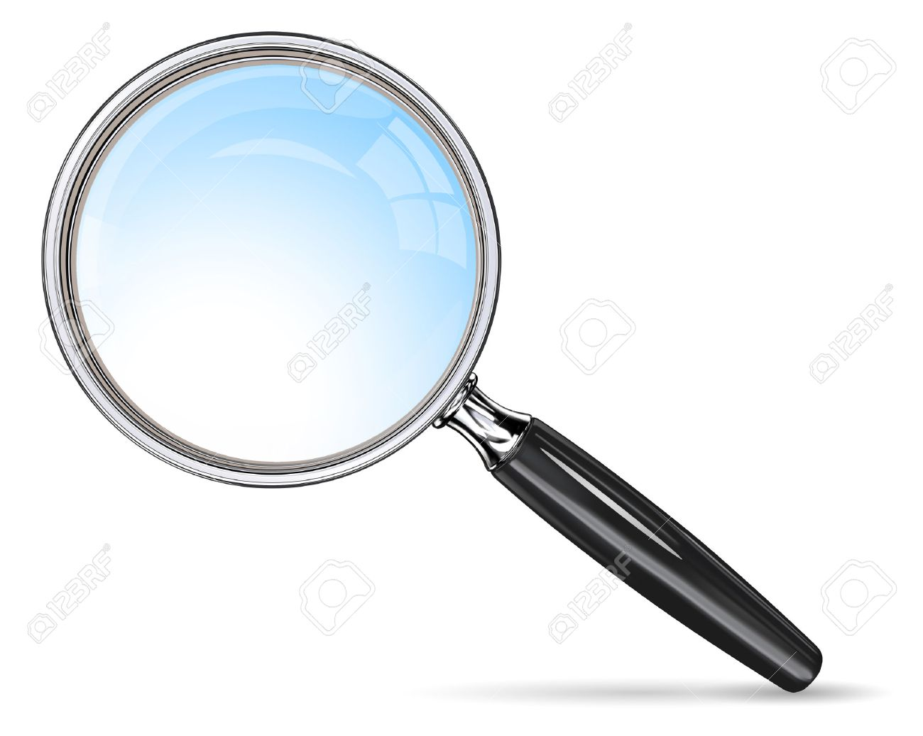 Classic Magnifying Glass. Vector magnifying glass. Blue lens effect. - 43766000