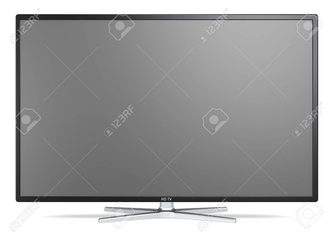 Pantalla De Televisión. No Marca Widescreen TV En El Soporte De ...