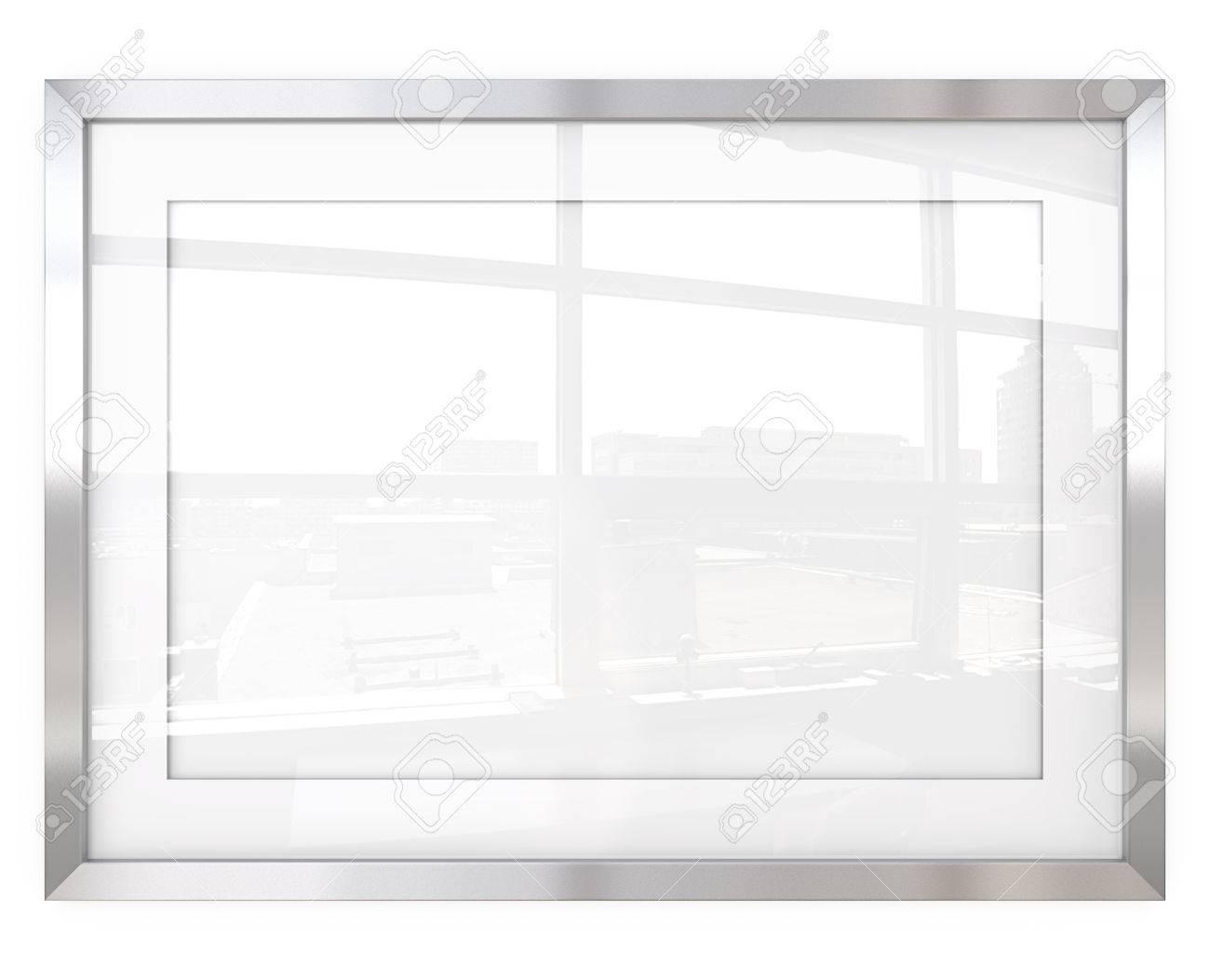 Resumen Marco De Acero. 3D Hacen De Marco Metálico Con Blanco Passe ...
