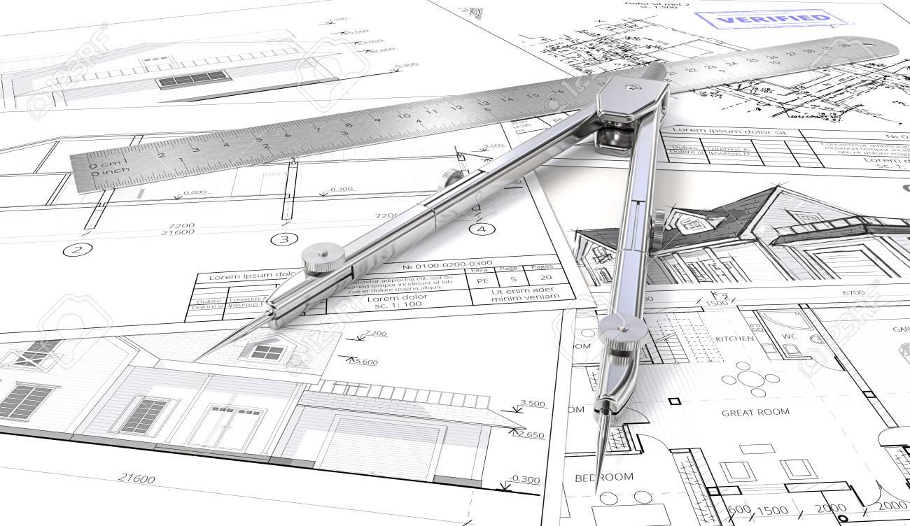 Planificación De Viviendas. Planos Arquitectónicos, Dibujos Y ...