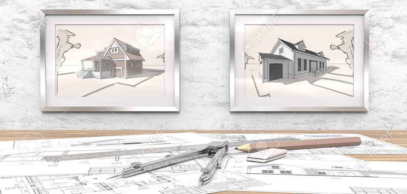 Maison De Reve Plan projet de maison de rêve. plans d'architecture génériques sur la