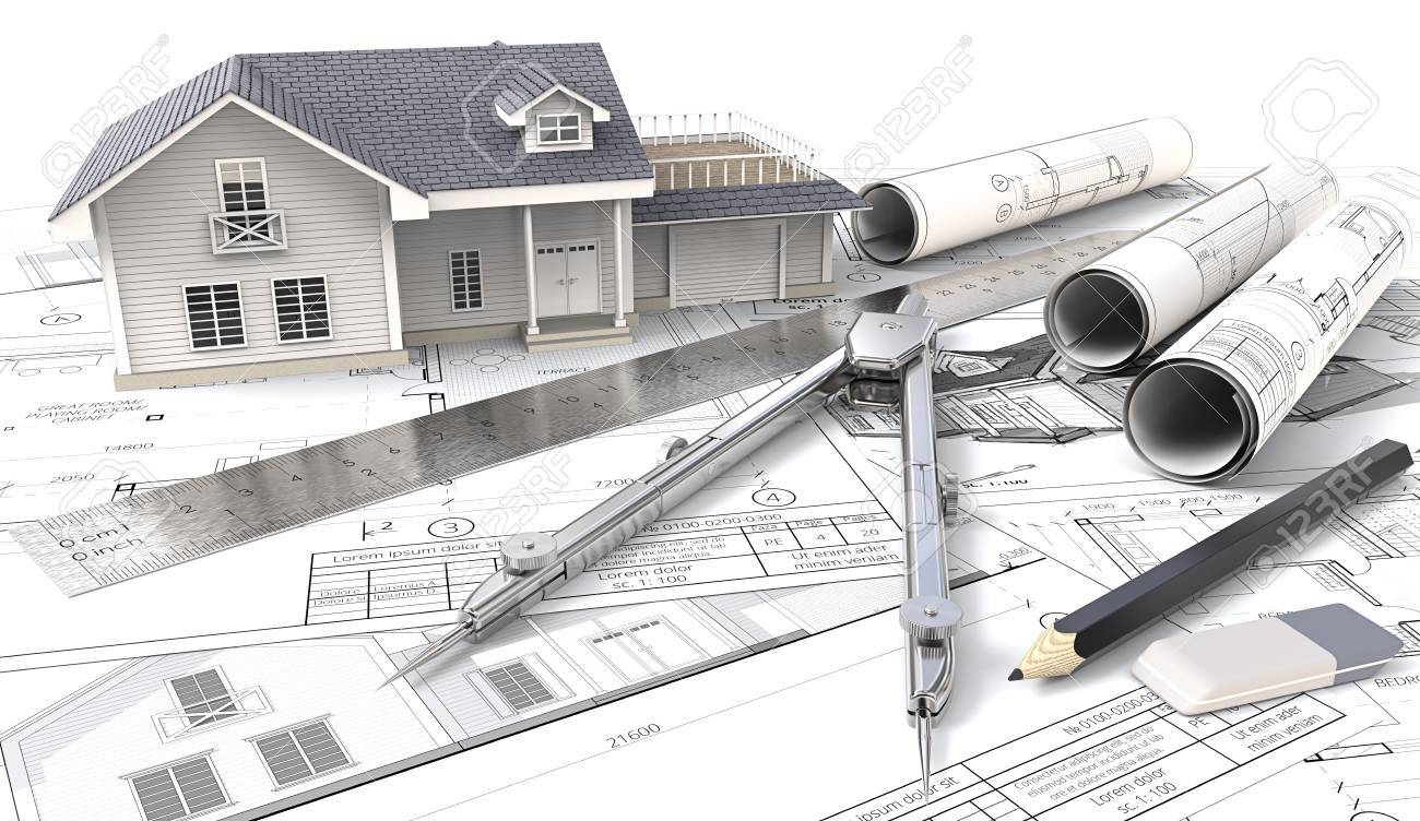 3d house on design sketches and blueprints 3d house drawings and sketches rolls - House Drawing 3d