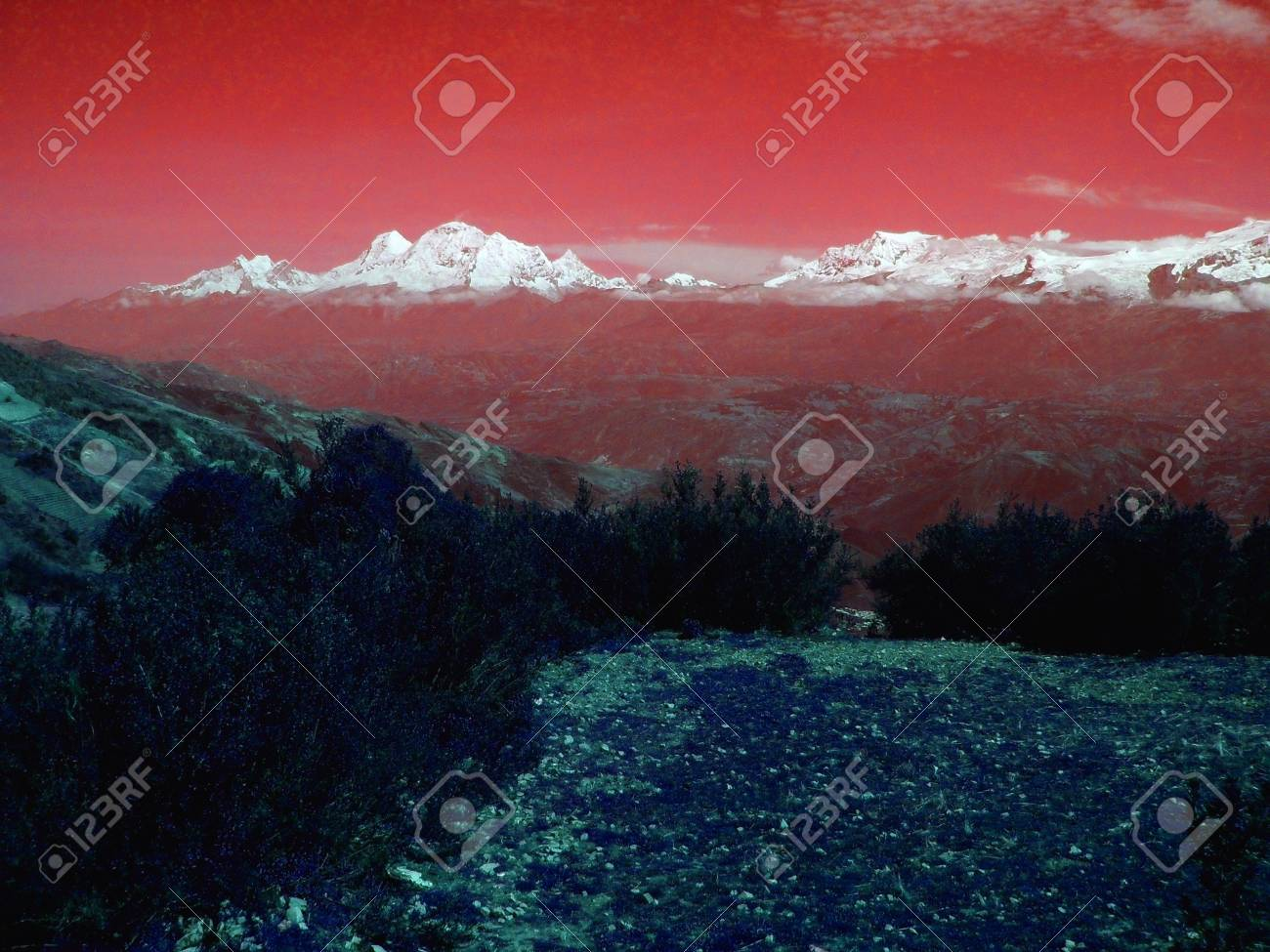 landscape of andean Stock Photo - 17244529