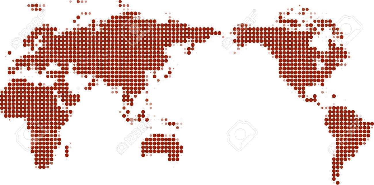 Dotted world mapvector dotted world mapvector stock vector 4625994 gumiabroncs Image collections