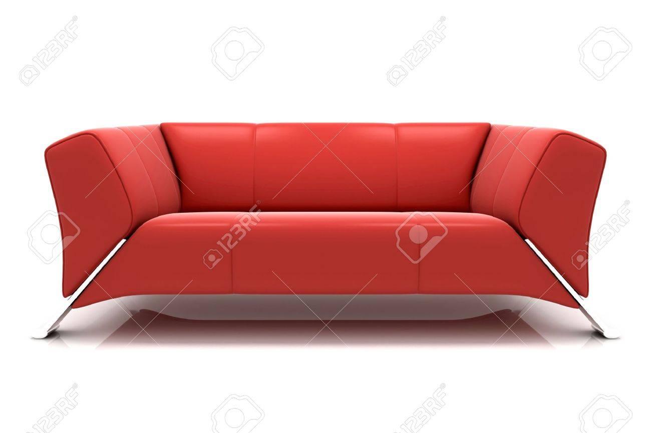 Modern sofa on White Background Stock Photo - 5716249