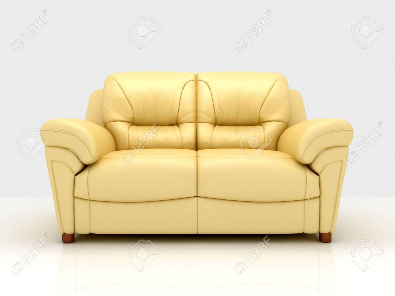 Modern sofa on White Background Stock Photo - 5716250