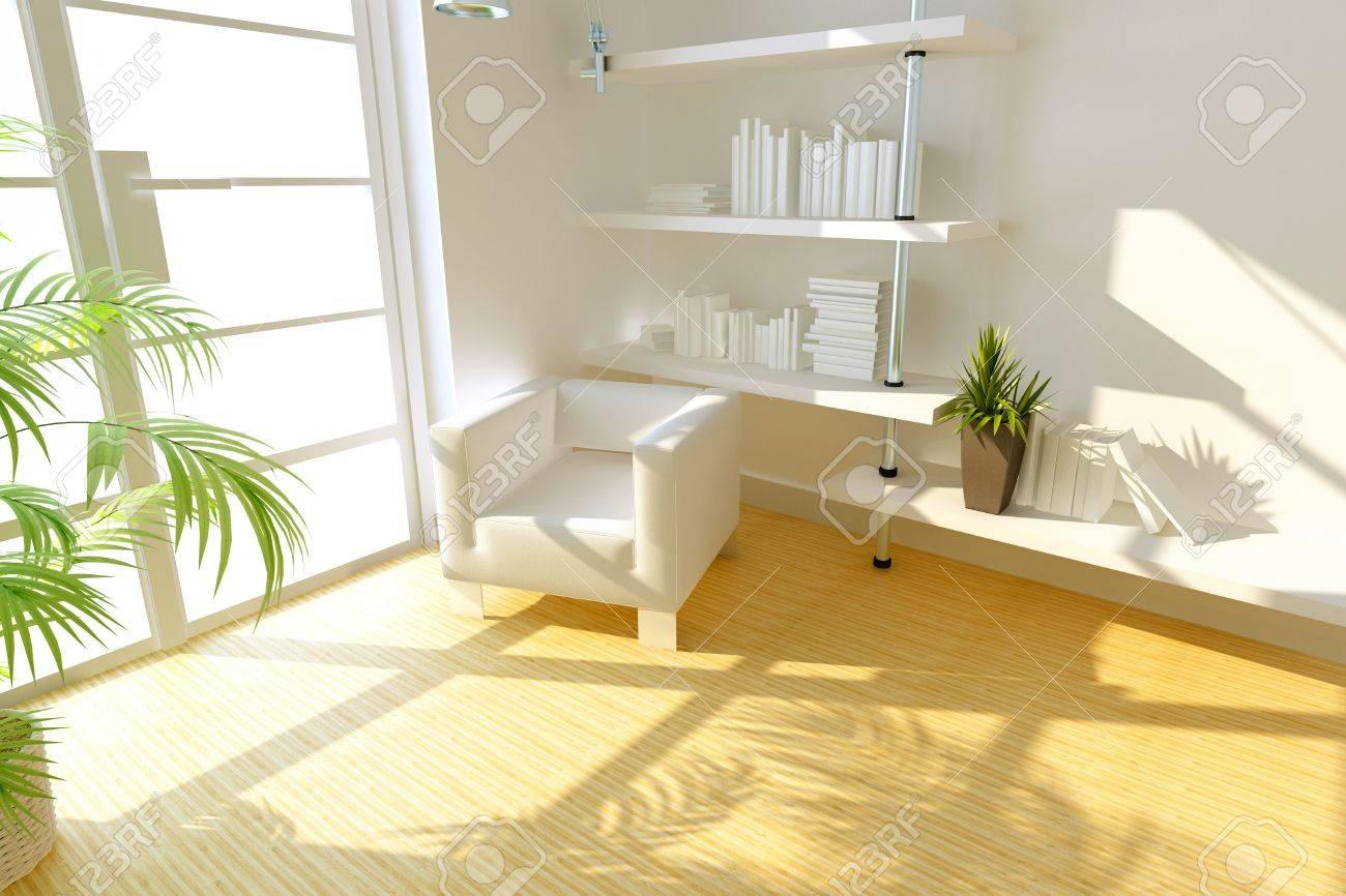 3D rendering of modern study room. Stock Photo - 7472170