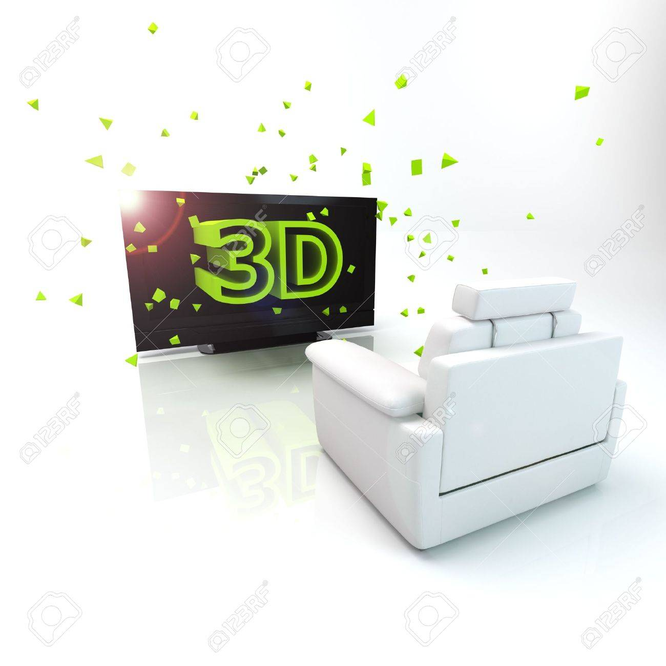 3D TV concept image. Stock Photo - 7472176