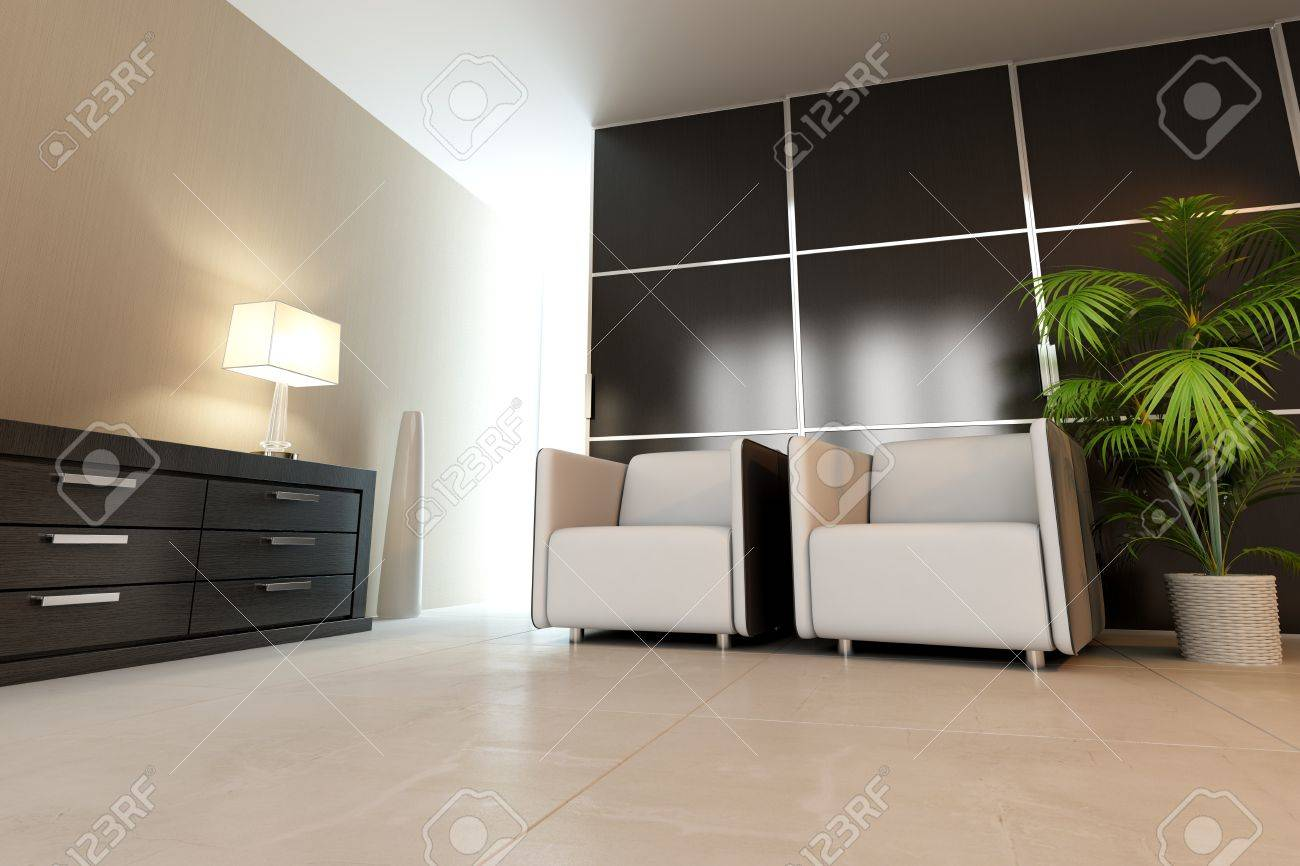 modern drawing room,3d rendering Stock Photo - 9238141