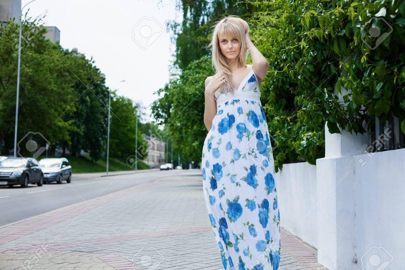 Beautiful Young Girl Walking On Beach Royalty Free Stock Image ...