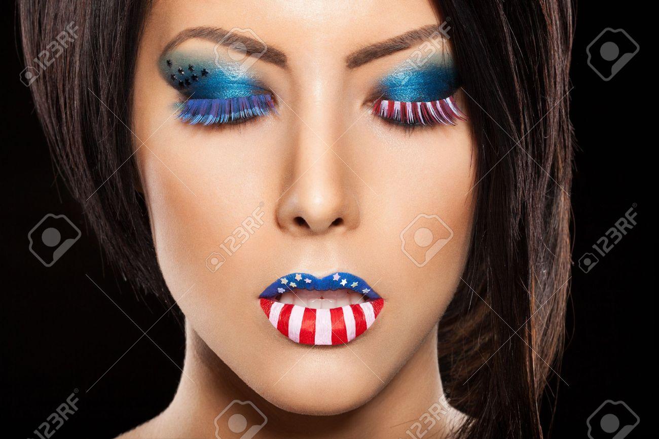 maquillage femme beau