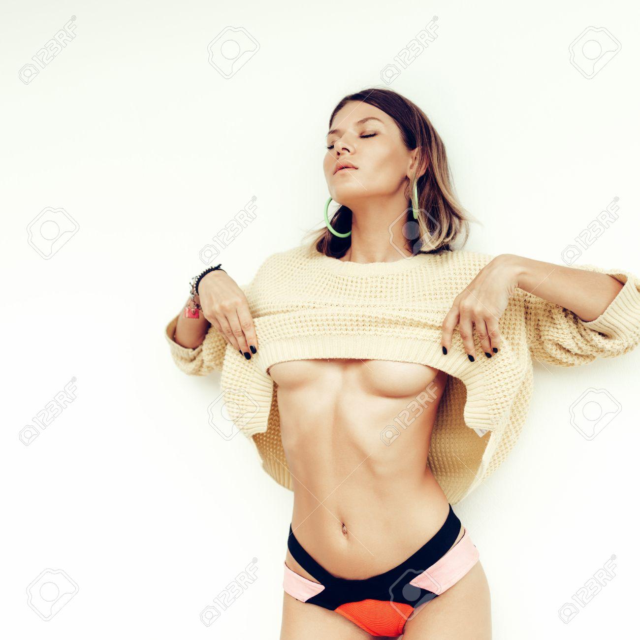 Girls in bikini taking it off