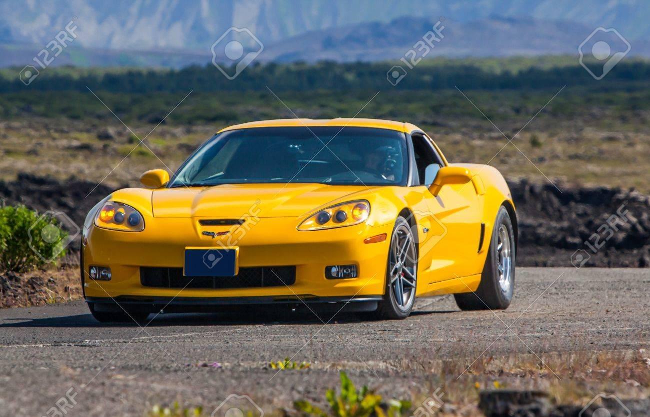 2013 Corvette Z06 >> Iceland July 27 2013 Yellow Colored Chevrolet Corvette