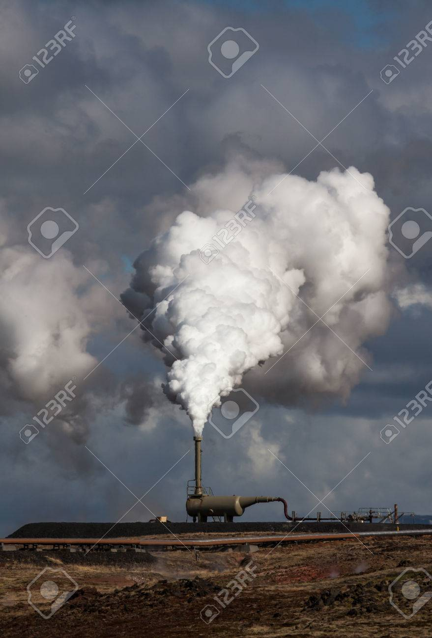 Geothermal power station located at Reykjanes peninsula, Iceland Stock Photo - 27736772