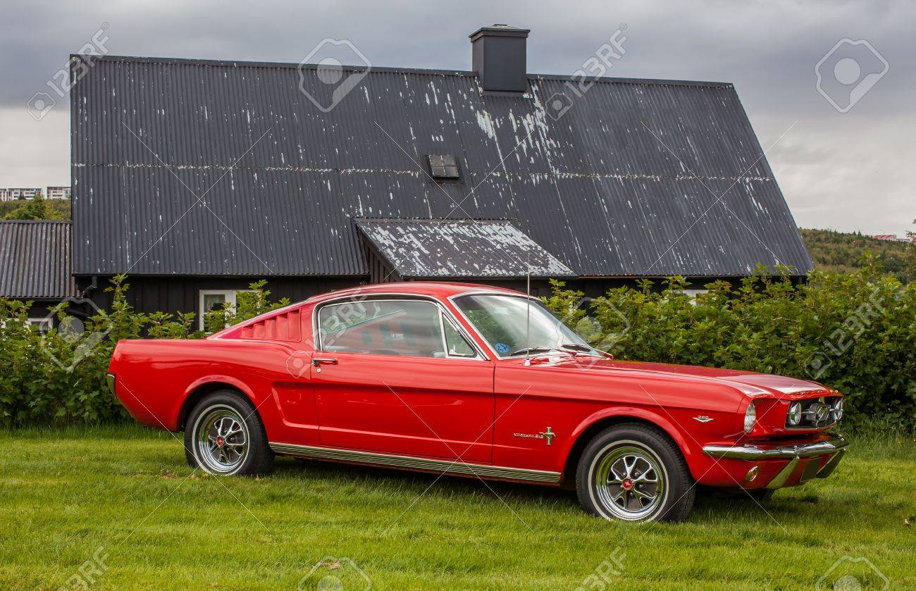 Reykjavik iceland july 6 2014 1965 ford mustang fastback at classic car show