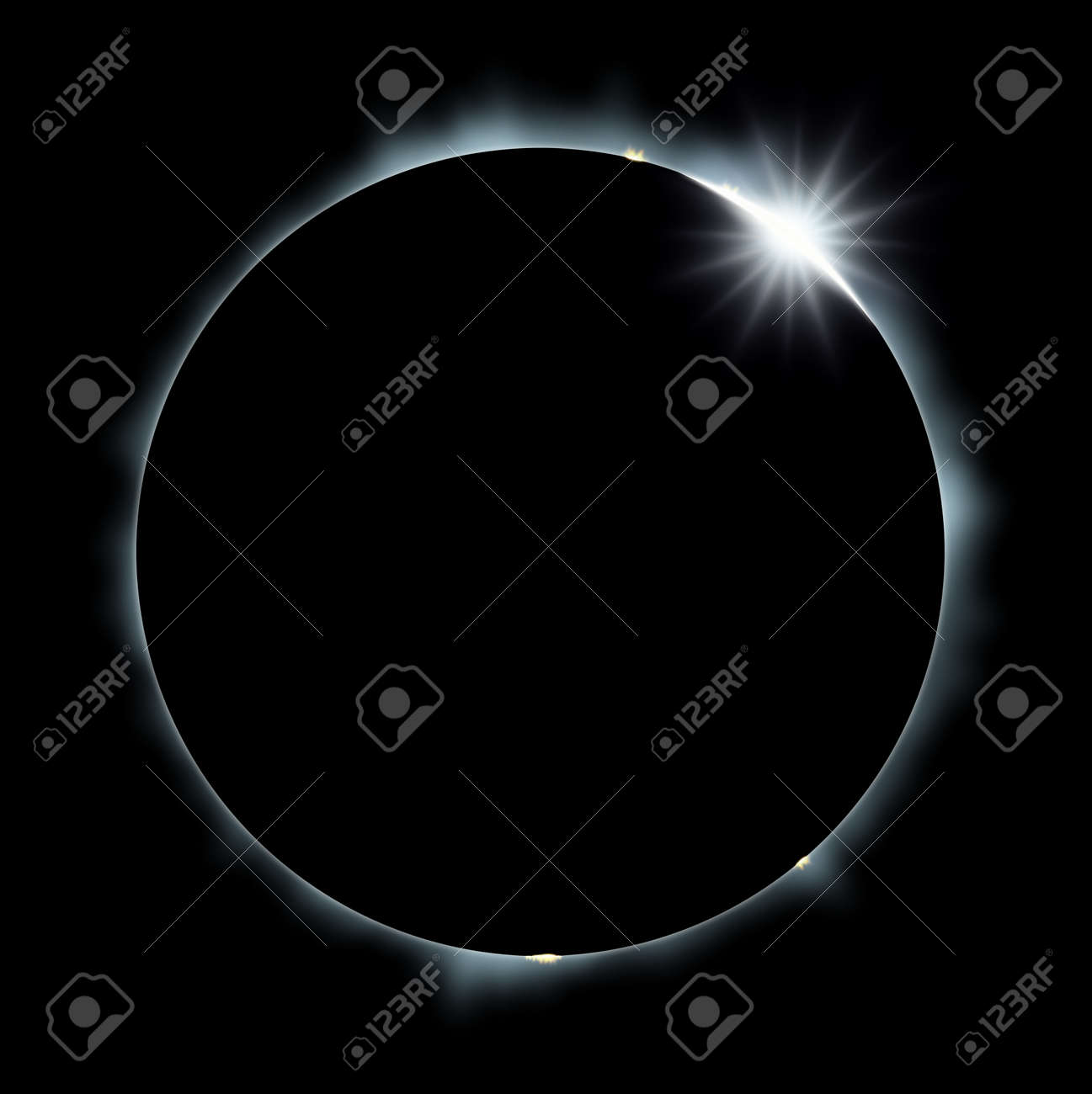 Full Eclipse of the Sun Stock Photo - 12887800
