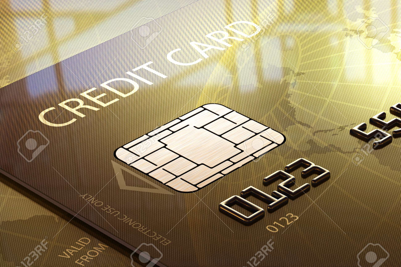 Glossy Credit Card Close-up in front of window Stock Photo - 16220104