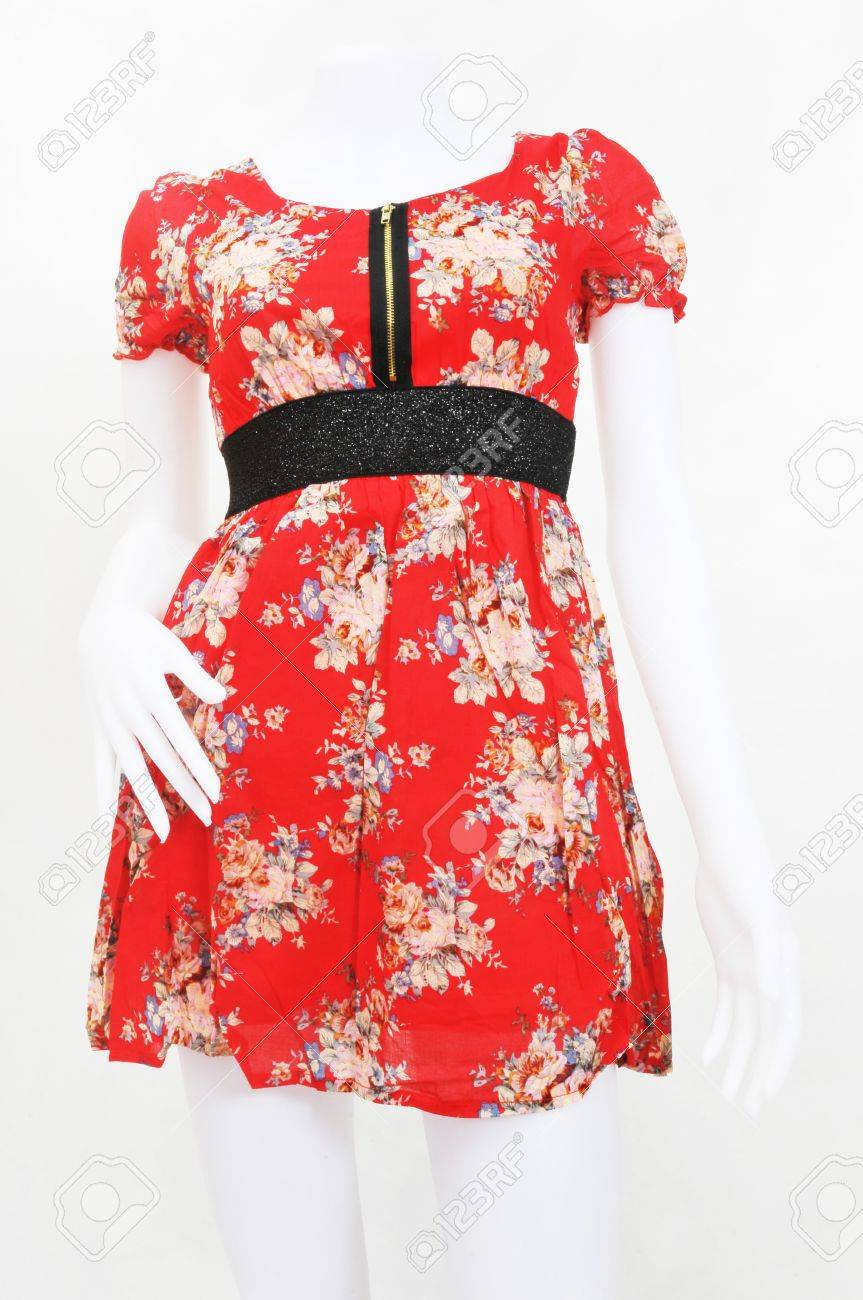 red dress on a dummy  white background Stock Photo - 16655409