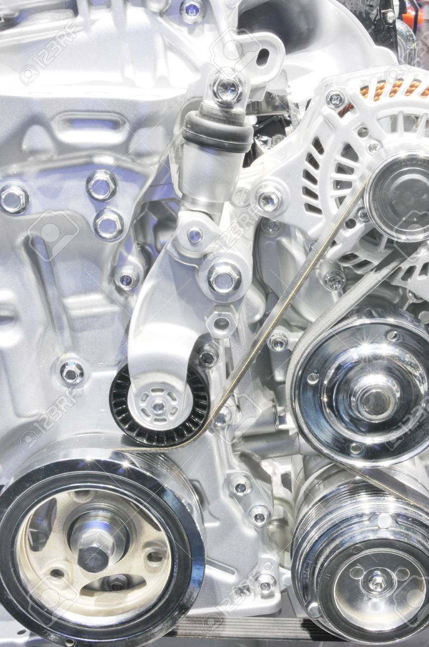 Car engine part - Close up image of an internal combustion engine Stock Photo - 24456220