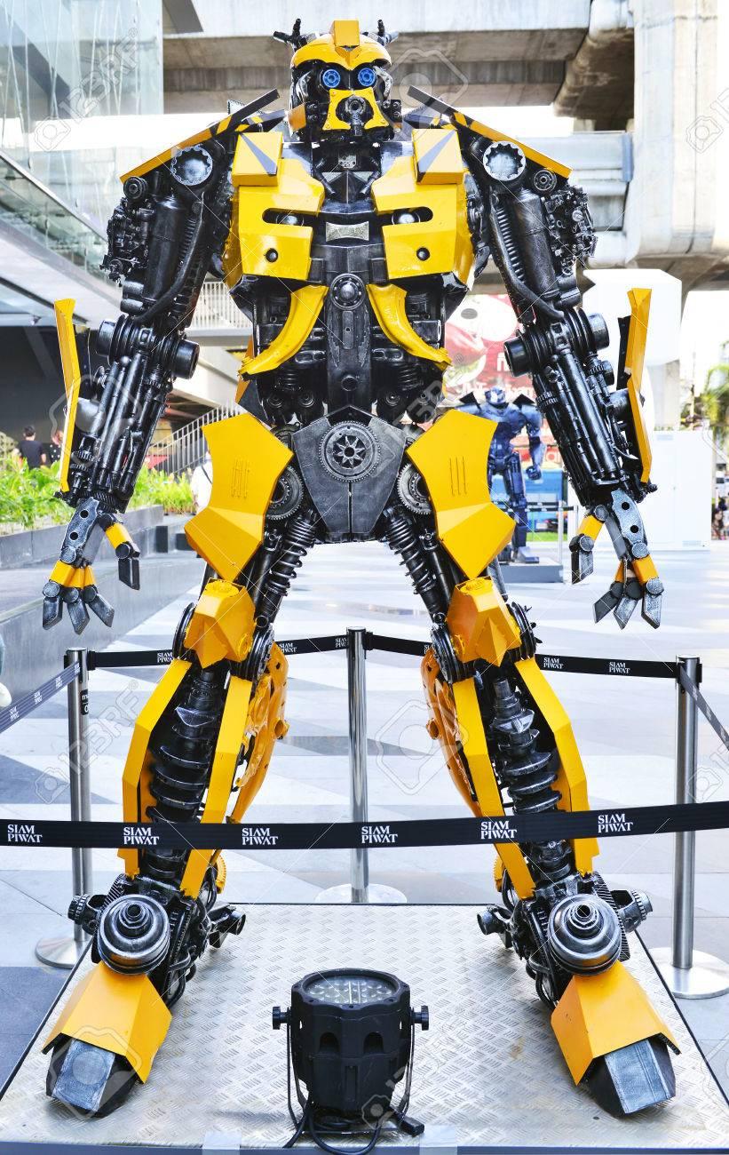 BANGKOK - JUNE 9 2016 : Bumblebee robot statue from Transformers