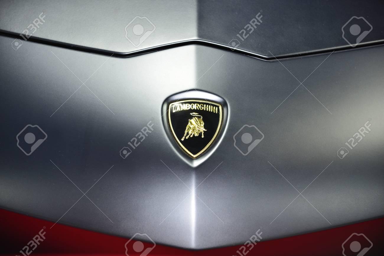 Bangkok June 23 Lamborghini Car Logo On Display At Bangkok