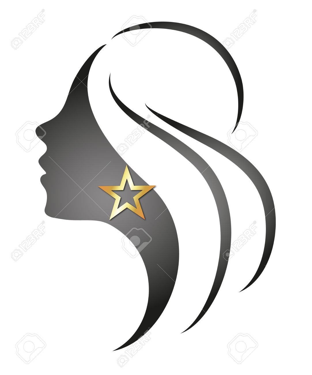 Beautiful Vector Girls And Logos From Stock Vector Beautiful Girl With a