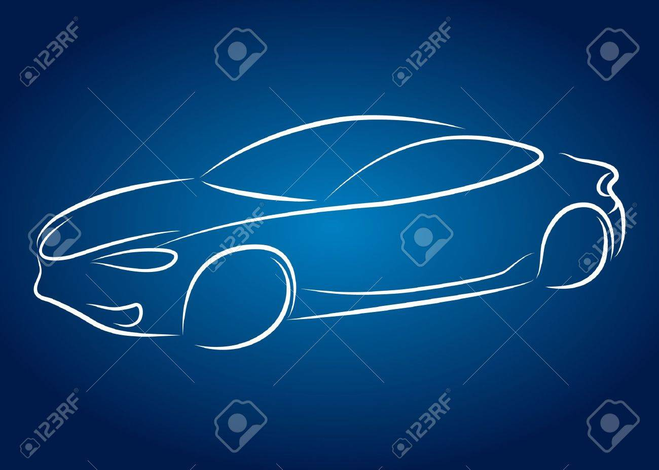 car design for business, silhouette Stock Vector - 17971286