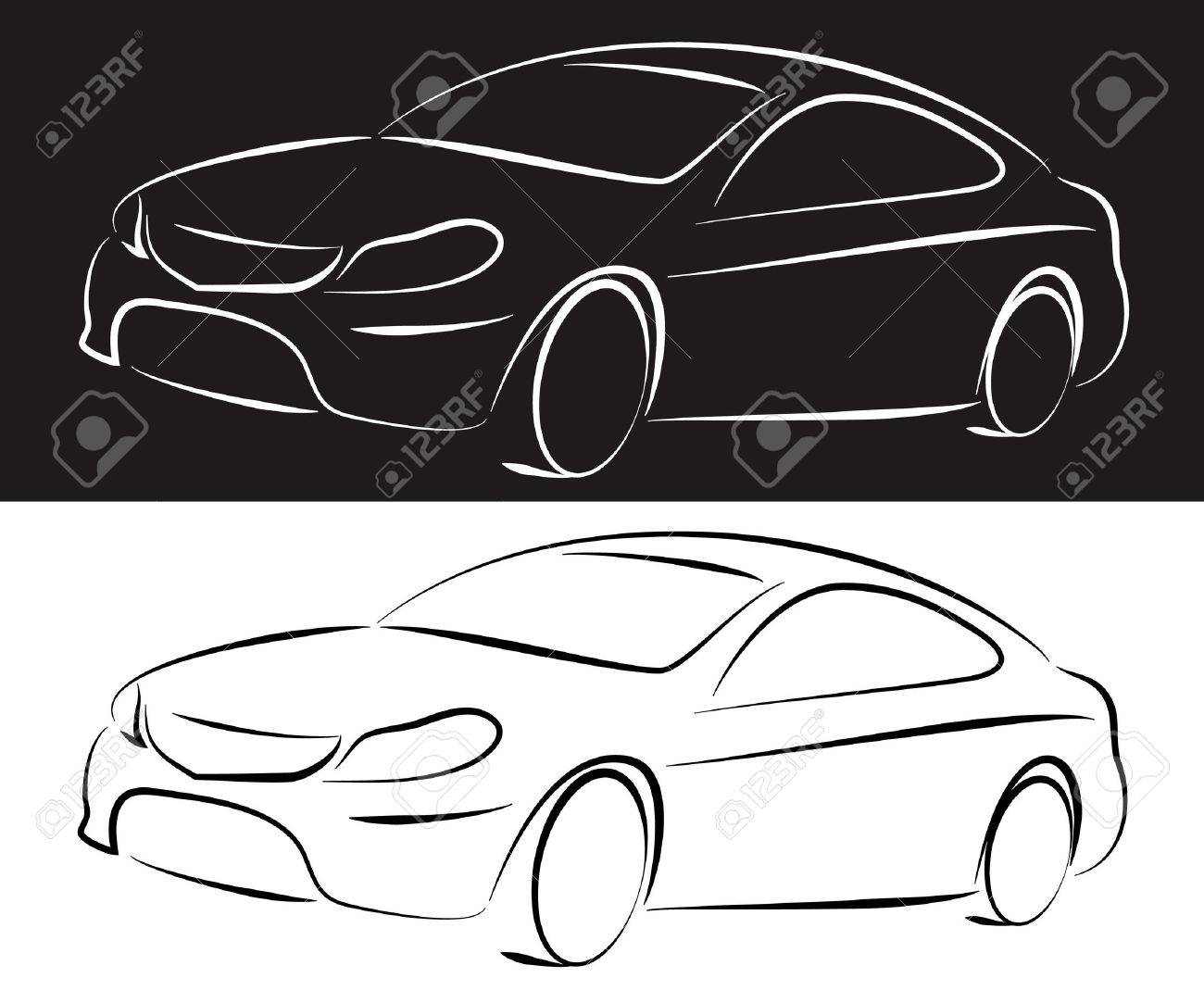 silhouette of a car for business Stock Vector - 17971289